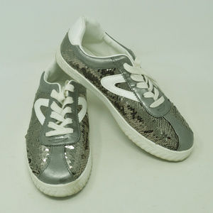 TRETORN Girl's Camden Sequin White/Graphite Shoes